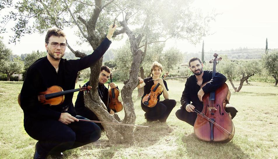 Imatge d'arxiu del Quartet Brossa.