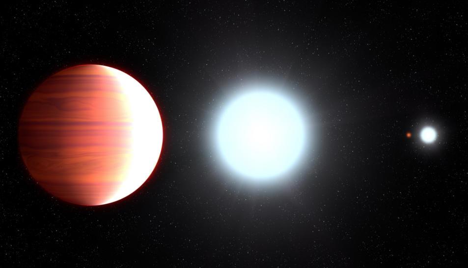 Recreació del Kepler-13AB