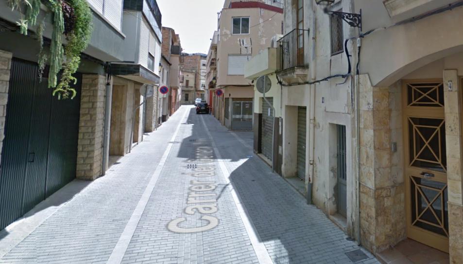Imatge del carrer General Prim del Vendrell.