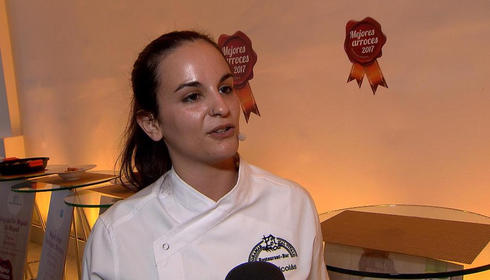 Sara Nicolás, la responsable del que està considerat millor arròs de l'Estat.