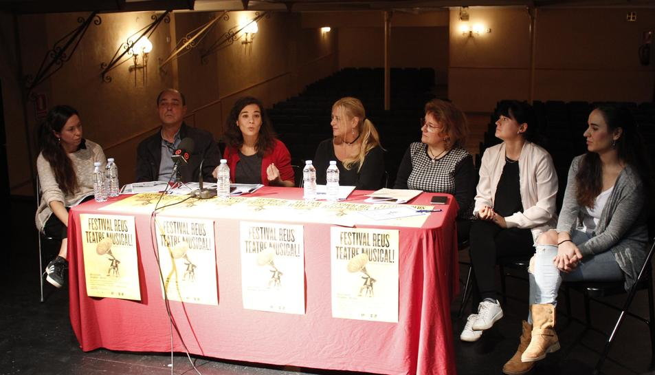 Imatge de la presentació del Reus Teatre Musical aquest 31 d'octubre.