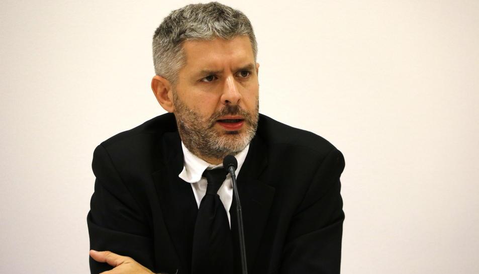 L'advocat Andreu Van den Eynde a la seu d'ERC, el passat 27 d'octubre.