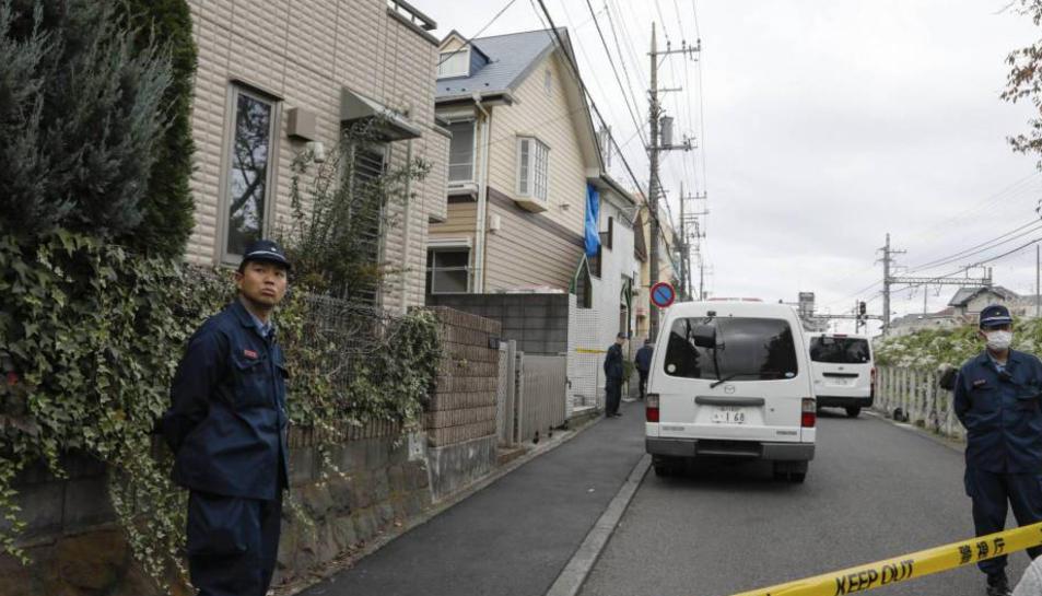 Imatge del domicili de l'acusat durant la investigacio policial.
