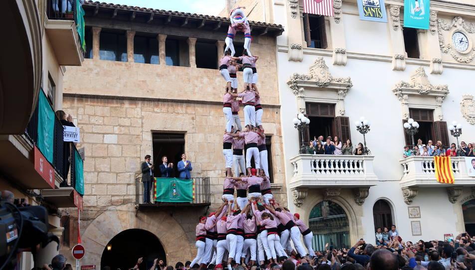 4de9f dels Xiquets de Tarragona a la diada de Tots Sants.