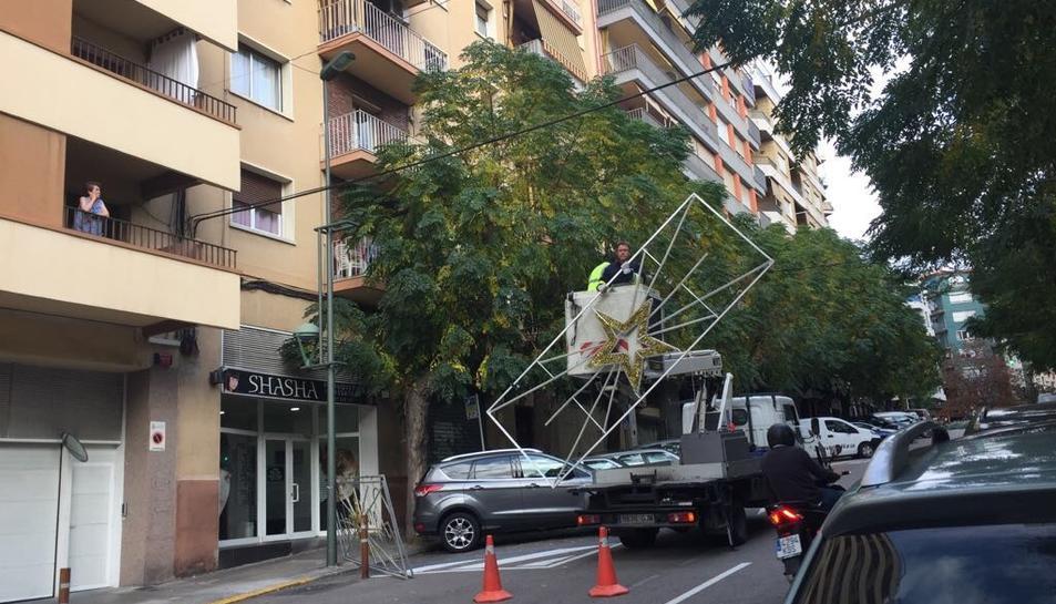 Les llums al carrer Mallorca.