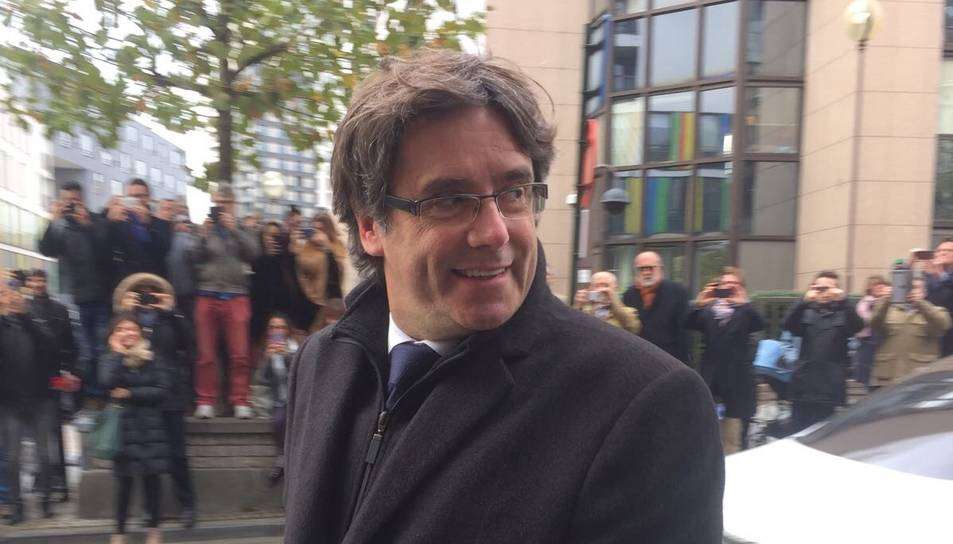 Carles Puigdemont, a Brusel·les.