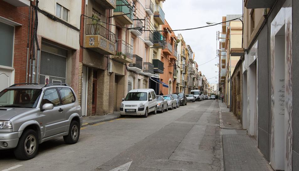 Una imatge del carrer on es duran a terme els treballs un cop finalitzi el període d'exposició.