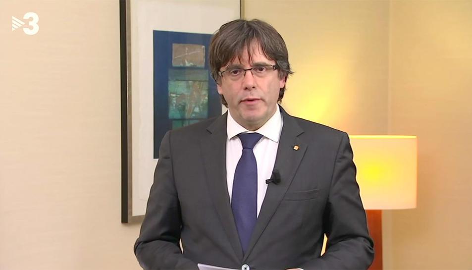 El president Puigdemont ha comparegut des de Brussel·les.