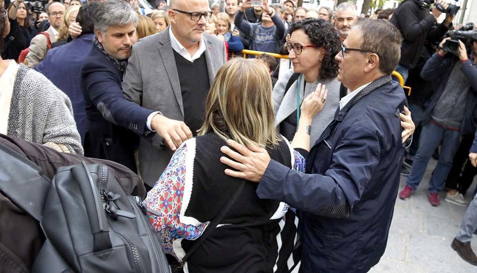 Marta Rovira, aquest dijous, al davant del Tribunal Suprem.