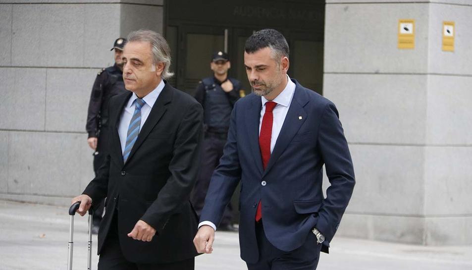 Santi Vila, a les portes l'Audiència Nacional.