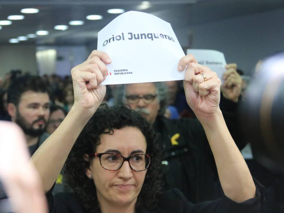 Marta Rovira durant el Consell Nacional d'ERC aquest dissabte 4 de novembre.