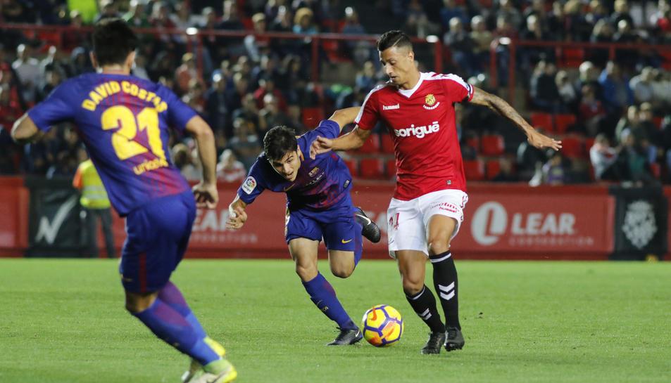 Maikel Mesa, durant el Nàstic-Barça B.