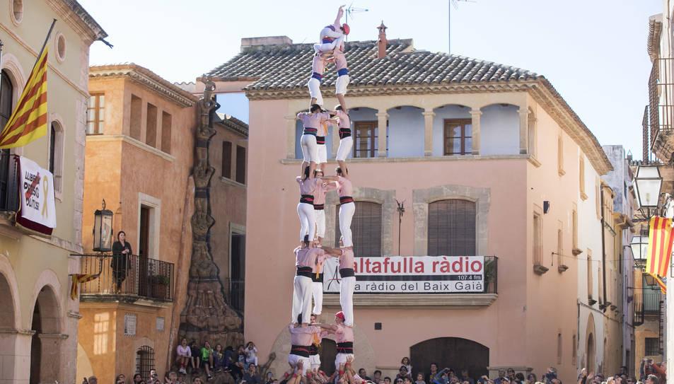 3de8 dels Xiquets de Tarragona a la diada de Sant Martí.