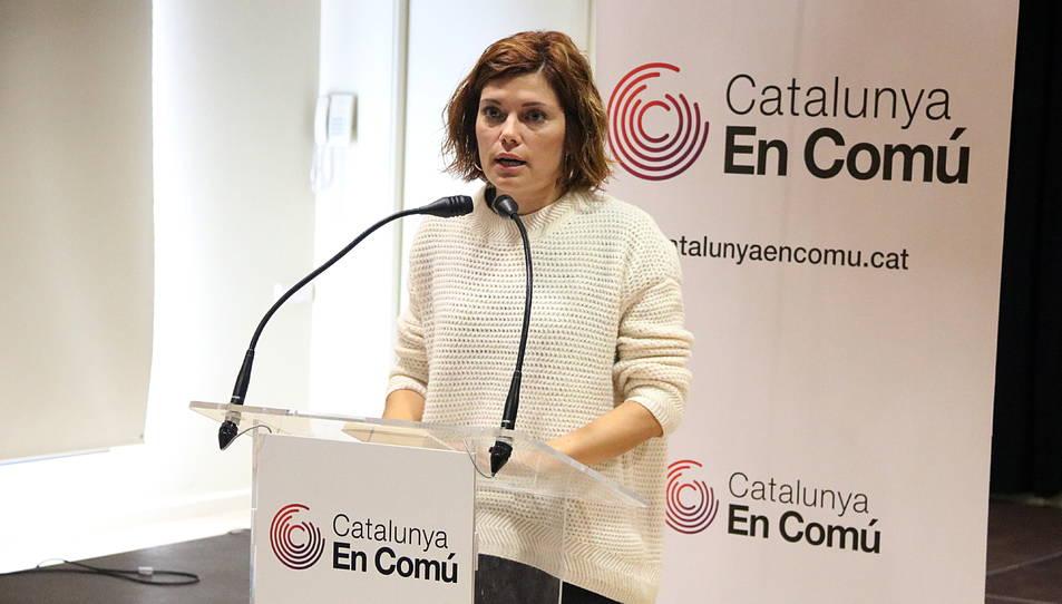 La portaveu de Catalunya en Comú, Elisenda Alamany.