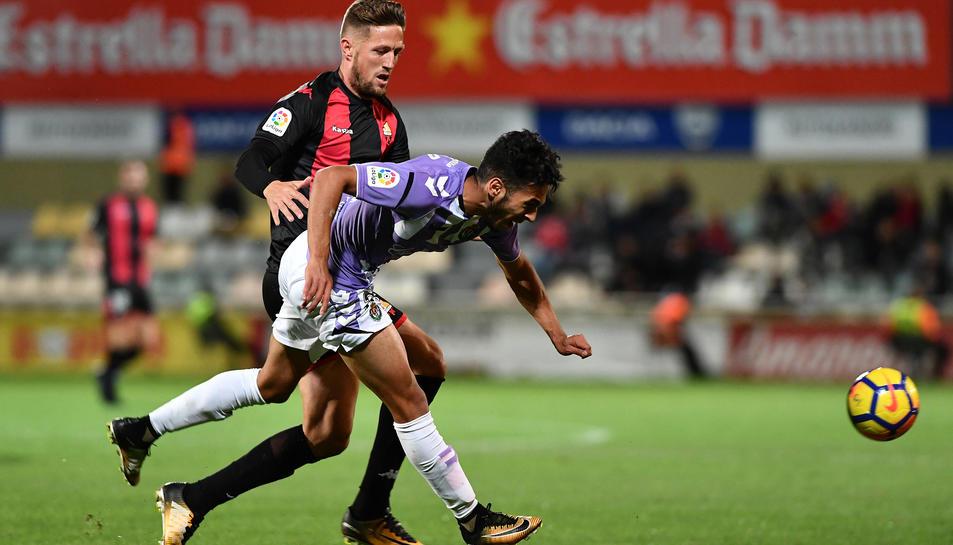 Edgar Hernández s'ha convertit en la màxima referència ofensiva del CF Reus, i està complint a la perfecció.