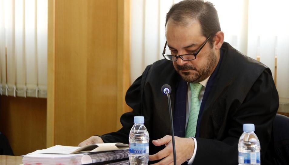 Joan Manel Martín, advocat defensor de Ramon Franch, en l'inici del judici que s'ha celebrat a l'Audiència de Tarragona, aquest 6 de novembre.