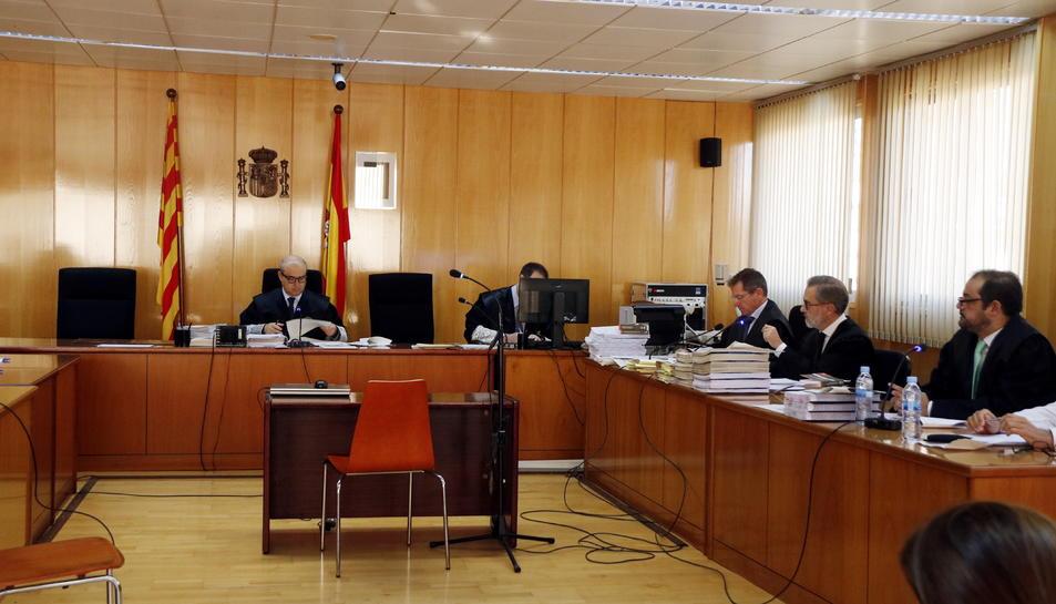 Imatge d'arxiu de l'inici del judici contra Ramon Franch a l'Audiència de Tarragona, aquest 6 de novembre.