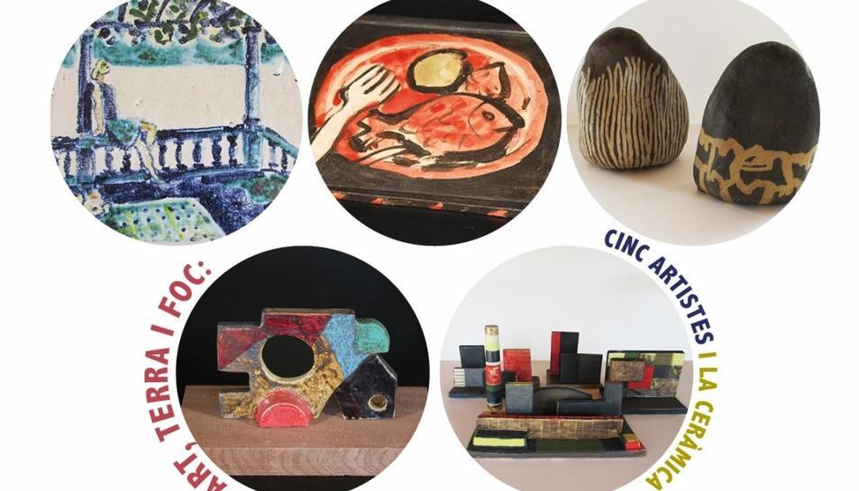 Cinc artistes plàstics relacionats amb el taller Ceràmica Baltà de Guardiola de Fontrubí han creat una sèrie d'obres ceràmiques sota el paraigua d'aquest taller.