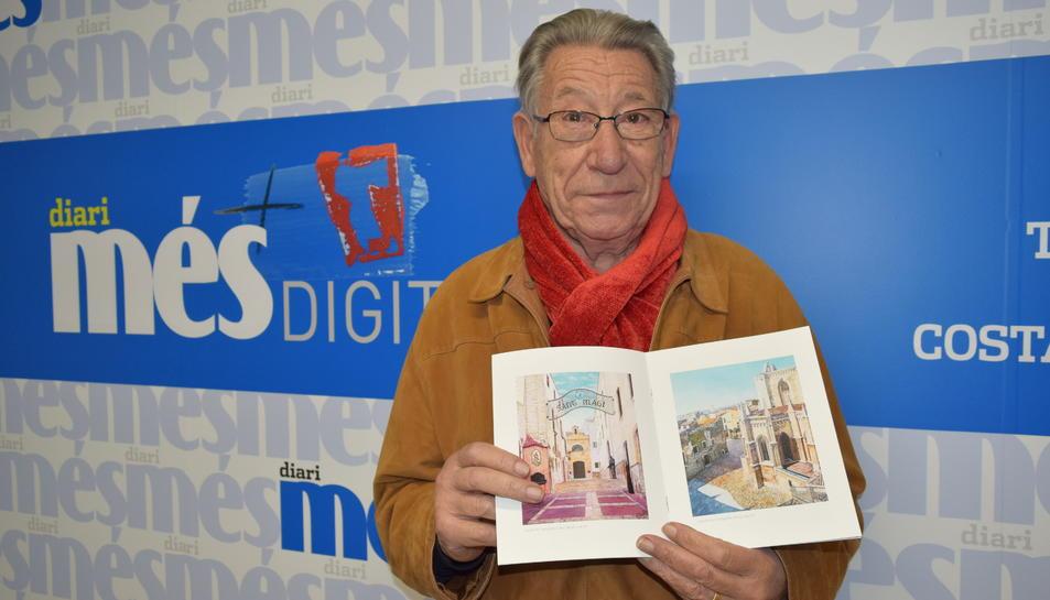 Eugenio Molero sosté el catàleg de l'exposició que avui inaugura a la seu de la Diputació.