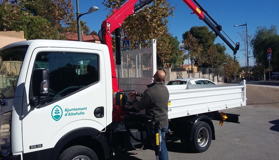 Imatge del nou vehicle de la Brigada Municipal d'Altafulla.