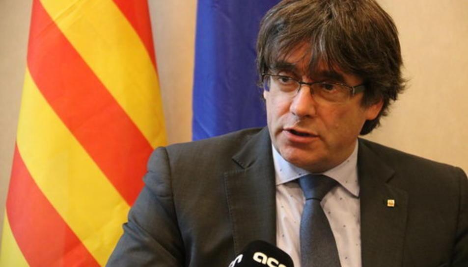 El president Puigdemont conversa amb l'ACN el 10 de novembre del 2017.