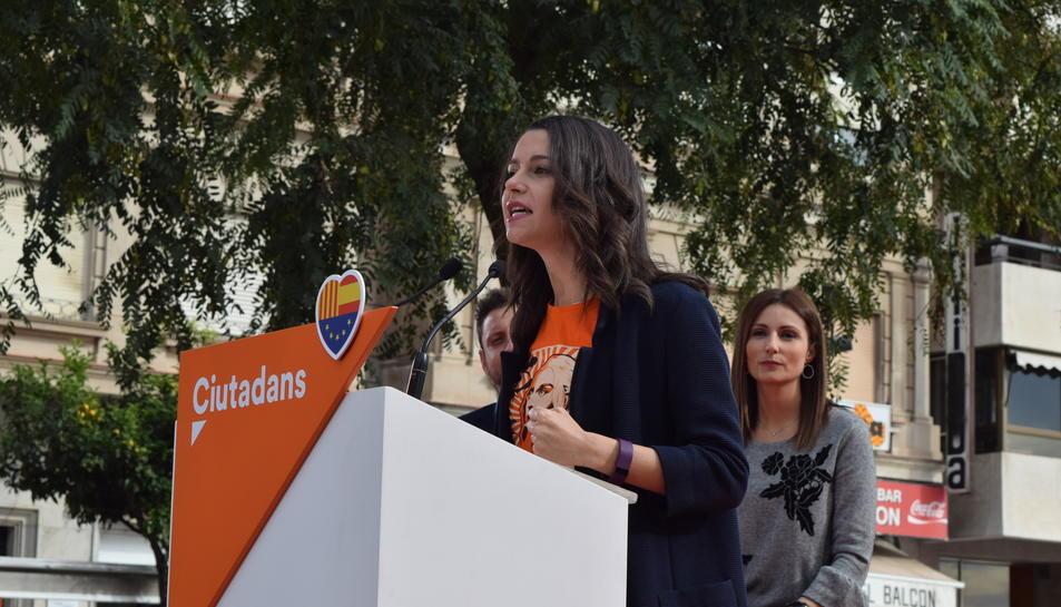 inés Arrimadas inicia la precampanya electoral al Balcó del Mediterrani