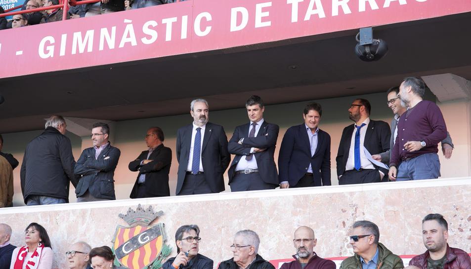 L'afició durant el Nàstic-Oviedo