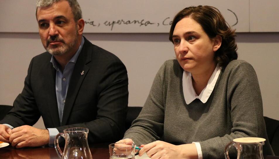 El partit d'Ada Colau trenca amb el grup municipal socialista, liderat per Jaume Collboni.