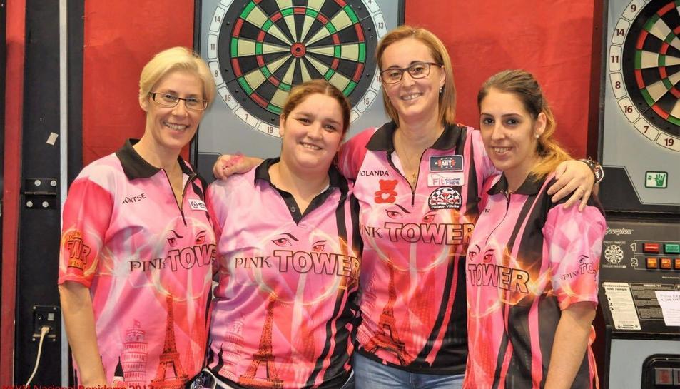 Montse Boronat, Remedios García, Iolanda Riba i Lorena Pérez, les Pink Tower.