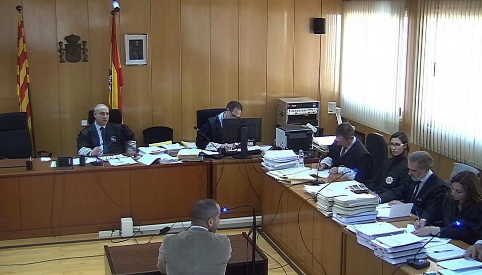 Instant de la declaració del cap de la Unitat Central de Persones Desaparegudes dels Mossos.