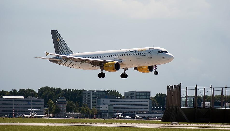 Imatge d'arxiu d'un vol de la companyia Vueling.