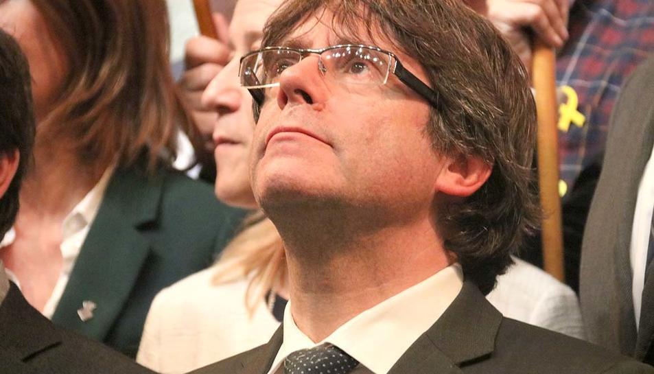Imatge d'arxiu del president Puigdemont.