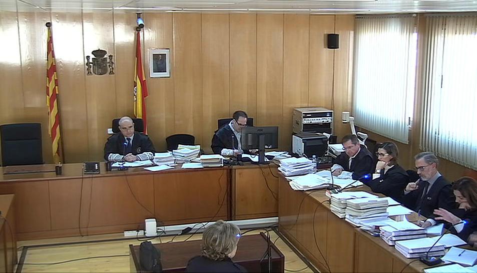 Captura de pantalla de la declaració de la mare de Ramon Franch en el judici que se celebra a l'Audiència de Tarragona. Imatge del 14 de novembre del 2017