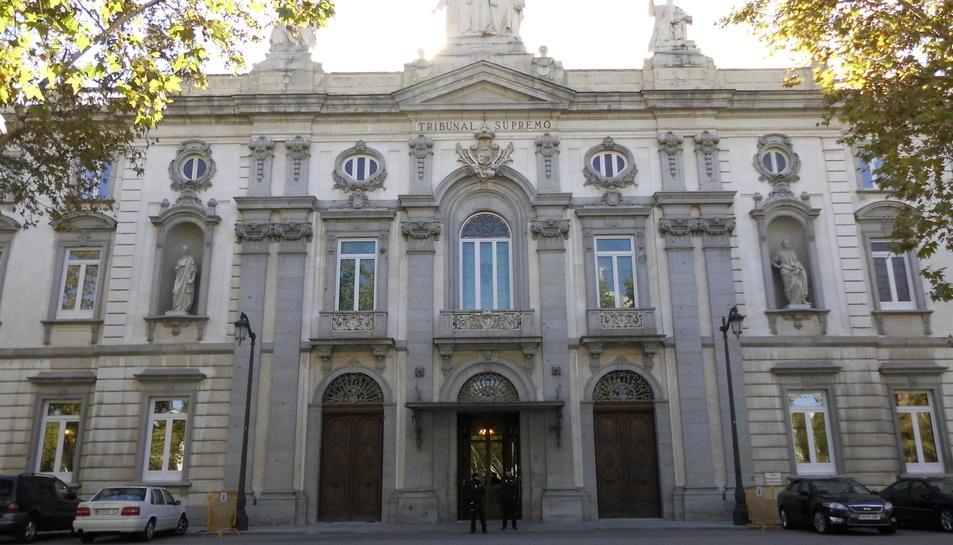 Imatge de la façana del Tribunal Suprem, a Madrid.
