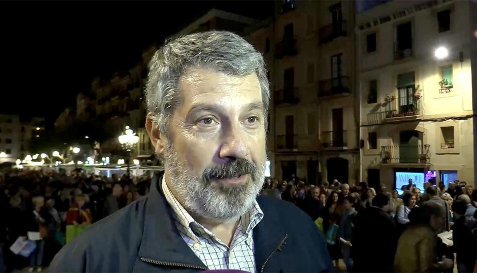 Pere Grau, advocat i un desl responsables de l'ANC a Tarragona.