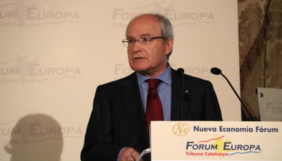 L'expresident de la Generalitat, José Montilla, al Forum Europa Tribuna Catalunya, el 20 de novembre de 2017.