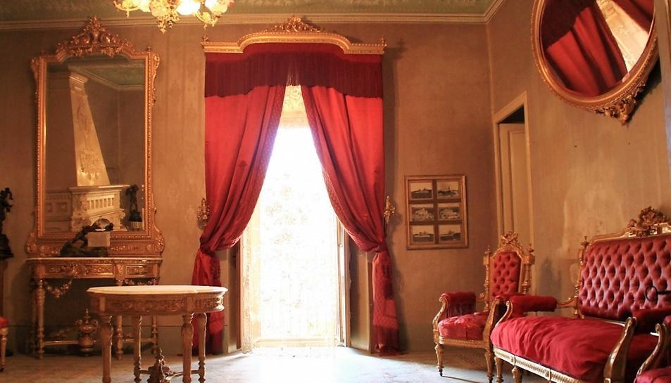 Imatge de l'interior del castell de Llorenç del Penedès.
