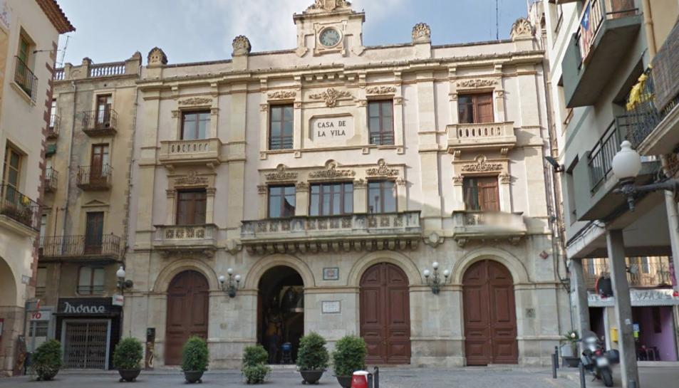 Imatge de la façana de l'Ajuntament de Valls.