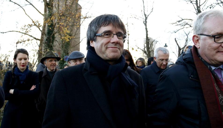 El president Carles Puigdemont, durant una visita a Bruges, Bèlgica, el 25 de novembre.