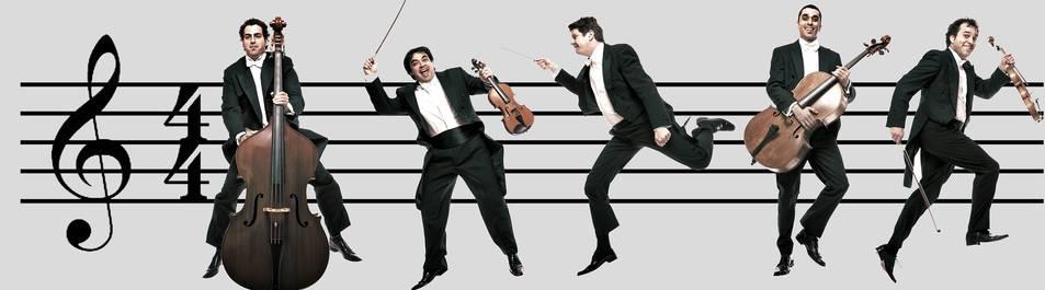 Imatge del quintet de cordes de Camerata XXI.