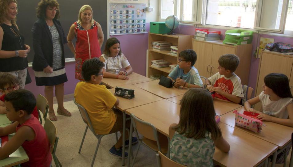 Imatge d'arxiu d'una aula d'una escola tarragonina.