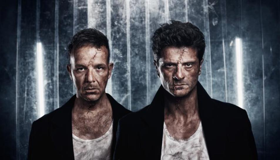 Àngel Llàcer i Joel Joan són els protagonistes de l'obra de teatre 'Frankenstein'.