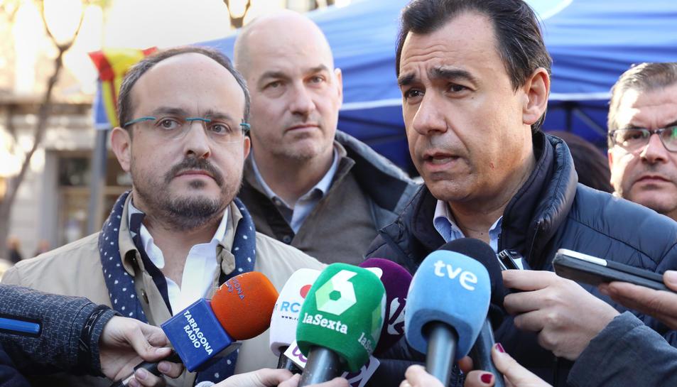 Imatge del coordinador general del PP, Fernando Martínez-Maíllo, durant l'acte de precampanya aquest dimecres a Tarragona.