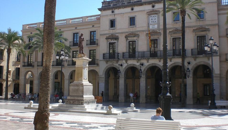Imatge de la plaça de la Vila de Vilanova i la Geltrú