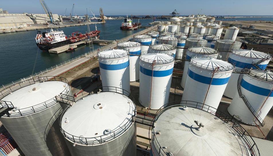 Imatge de les instal·lacions del Port de Tarragona.