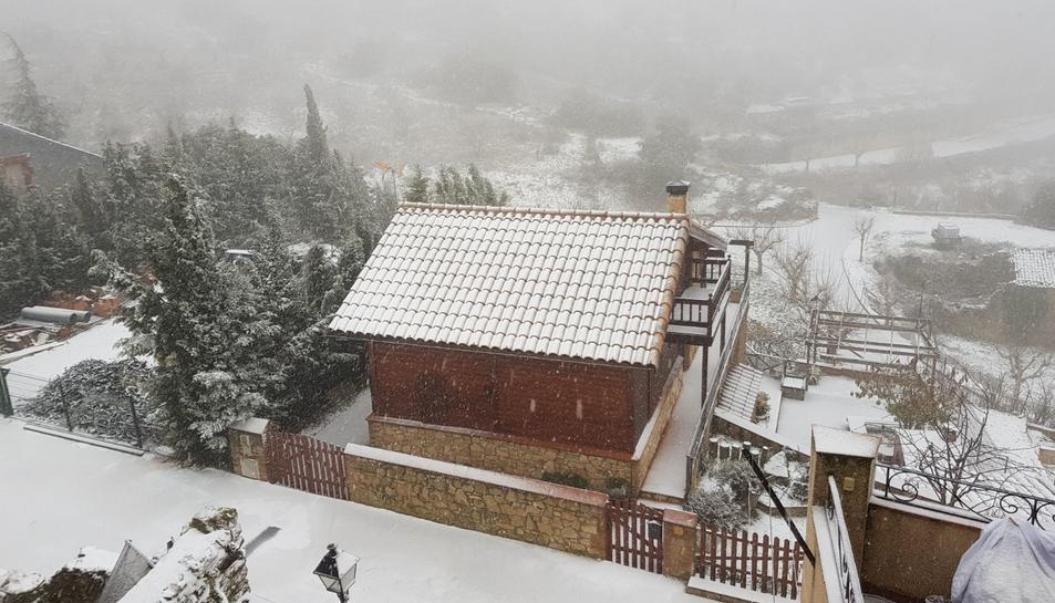 Imatges de Vilanova de Prades nevada