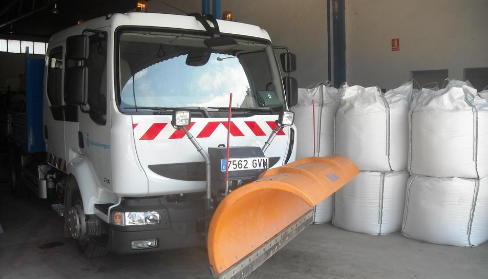 Des que han començat els treballs ja s'han consumit un total de 21 tones de sal i s0ha activat un equip llevaneu.