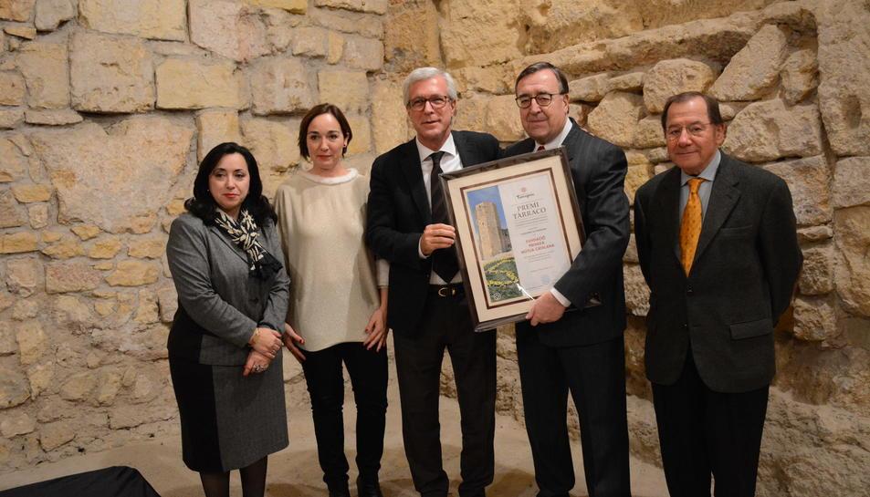L'acte va ser presidit per l'alcalde de Tarragona, Josep Fèlix Ballesteros i el i guardó va ser recollit pel president de la Fundació Privada Mútua Catalana, Joan Josep Marca