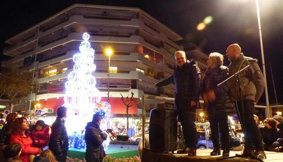Encendido de luces de Navidad en Salou