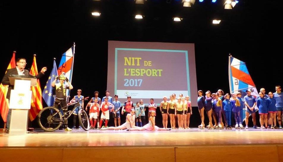 Alguns dels esportistes que van participar a la gala.